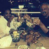 Oprah Winfrey enjoying a seafood dinner with her longtime partner Stedman Graham at Captain James Landing in Baltimore