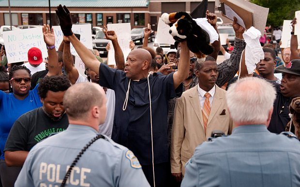 Rioting over the killing of Michael Brown by a police officer has erupted in Missouri