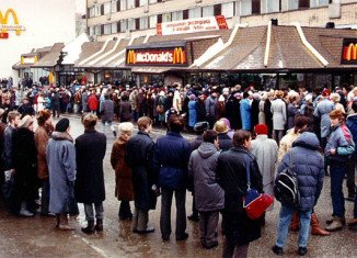 Russia's first ever McDonald's opened in 1990 in Moscow's Pushkin Square