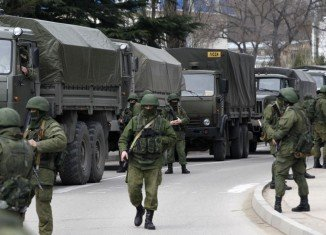 Russia has denied claims by NATO that its forces illegally crossed into Ukraine to support separatists there