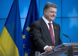 Speaking in Brussels, President Petro Poroshenko said Ukraine was a victim of military aggression and terror