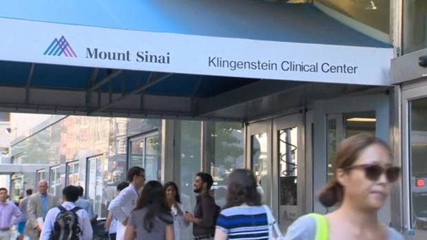 The Ebola suspected patient has been isolated shortly after arriving at Mount Sinai hospital photo