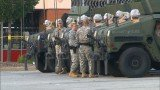 The National Guard troops were deployed in Ferguson when demonstrations became more violent over Michael Brown's shooting
