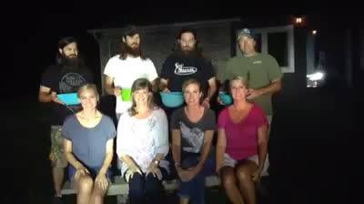 The Robertson women accepted the ALS Ice Bucket Challange after being nominated by the Junk Gypsy Company