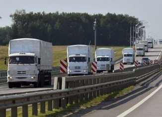 The Russian aid convoy has moved across the Ukrainian border, without permission