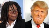 Whoopi Goldberg lashed out at Donald Trump on Monday's The View when discussing his tweets about two Americans who contracted the Ebola virus while treating an outbreak in West Africa