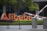 Alibaba's shares closed significantly above their initial price on the NYSE