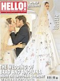 Angelina Jolie's wedding dress featured artwork drawn by kids Maddox, Pax, Zahara, Shiloh and twins Vivienne and Knox