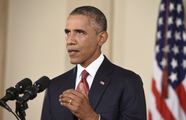 Barack Obama has announced that the US will not hesitate to take action against Islamic State militants in Syria as well as Iraq