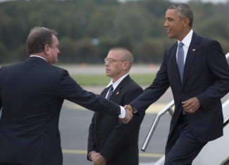 Barack Obama has arrived in Estonia for talks on the Ukraine crisis with Baltic leaders