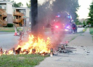 Burning of Michael Brown memorial led to more Ferguson protests