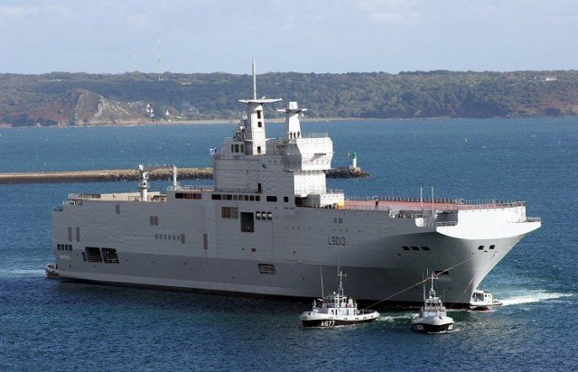 France has decided to stop the delivery of the first of two Mistral navy assault ships to Russia over Ukraine crisis