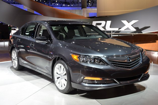 Honda Acura RLX is a car that can safely drive itself on the freeway while the driver's hands are off the wheel