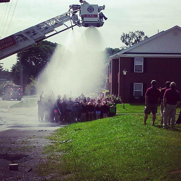 Kentucky firefighter Tony Grider was severely injured while helping college students take part in an Ice Bucket fundraiser