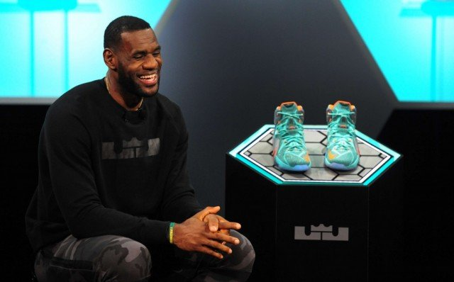 LeBron James showed off a new look at Nike's Oregon headquarters to promote the release of his LeBron 12 line shoes