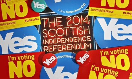 People are voting on whether Scotland should stay in the UK or become an independent nation