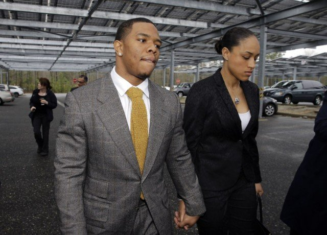 Ray Rice has been released by the Baltimore Ravens and suspended indefinitely by the NFL after a video emerged of him hitting his then-fiancée Janay Palmer