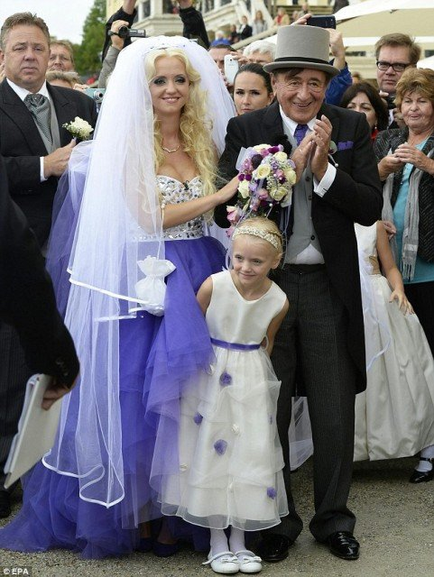 Richard Lugner married former model Cathy Schmitz at Schonbrunn Palace in Vienna