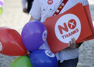 Scottish voters decisively rejected independence after voting to stay in the UK
