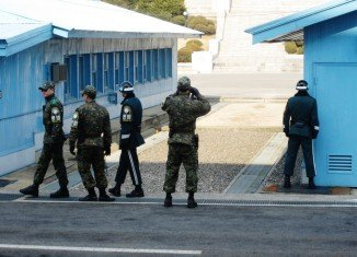 South Korean guards arrested the American man at a river border near the demilitarized zone