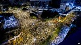 Tens of thousands of protesters have blocked the streets of Hong Kong, shutting down businesses and ignoring appeals to leave