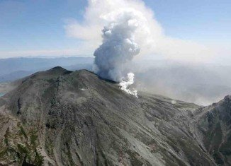 The eruption of Japan's Mount Ontake intensified making the efforts to recover the bodies of at least 24 climbers to be suspended again