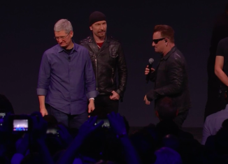 U2 performed live at Apple event in California