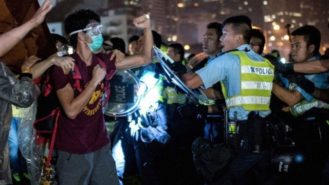 Hong Kong police is investigating reports that officers used excessive force against pro-democracy protesters