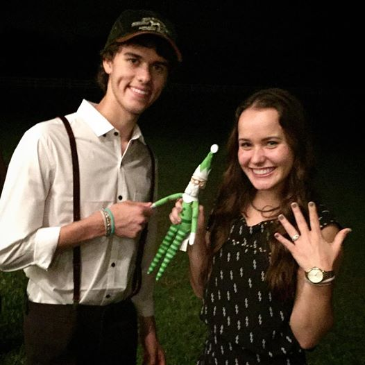 John Luke Robertson got engaged to girlfriend Mary Kate McEacharn on his 19th birthday