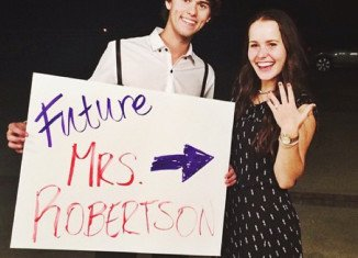 John Luke Robertson has announced his engagement to girlfriend Mary Kate McEacharn