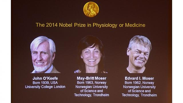 John O'Keefe as well as May-Britt Moser and Edvard Moser share the award for the discovery of brain's GPS system