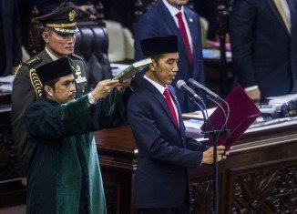 Joko Widodo has been sworn in as Indonesia's new president in a Jakarta ceremony