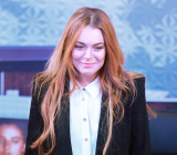 Lindsay Lohan has made her stage debut in West End play Speed-the-Plow