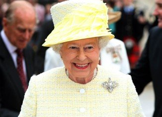 Queen Elizabeth II sent her first tweet heralding the launch of a major new exhibition at London's Science Museum