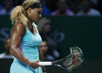 Serena Williams gave a fiery display of her fighting spirit at the Singapore Indoor Stadium during her WTA Finals semi-final against good friend Caroline Wozniacki