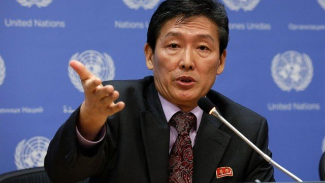 The North Korean mission at the UN held a rare briefing to discuss its recent report on its own human rights situation