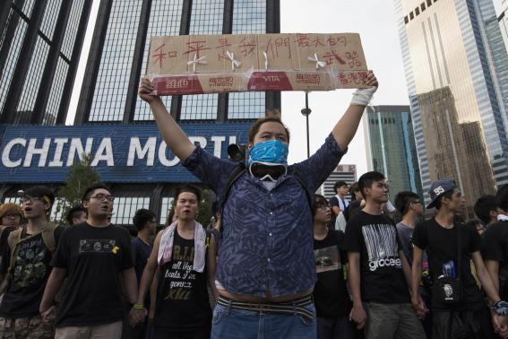 The protesters want Beijing to withdraw plans to vet candidates for the next Hong Kong leadership election in 2017