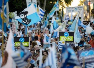 Uruguayans will cast ballots for president, vice-president and members of parliament at the same time