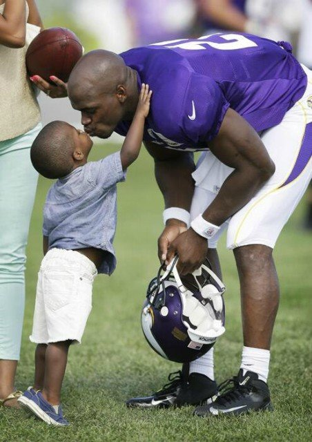 Adrian Peterson used a wooden implement to discipline his four-year-old son