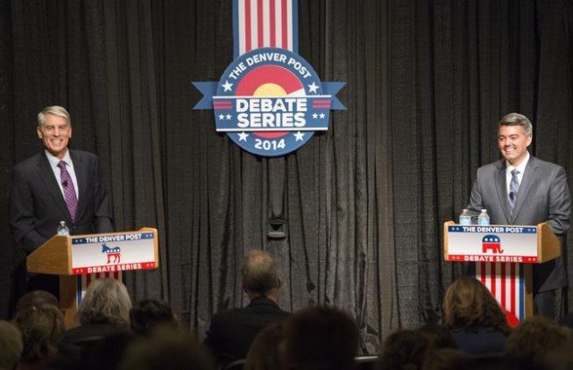 Colorado Senator Mark Udall and his challenger, Representative Cory Gardner