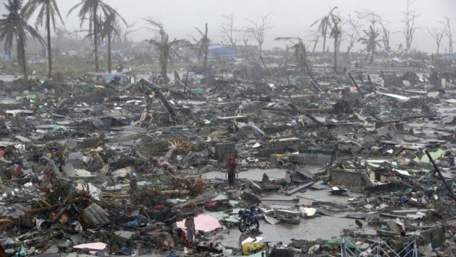 More than four million people were displaced after typhoon Haiyan hit Tacloban in November 2013