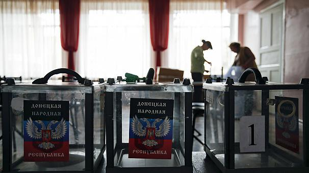 Presidential and parliamentary polls are being held in the two self-proclaimed people's republics in the Donetsk and Luhansk regions