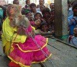 Ramu and his bride, a female monkey called Ramdulari