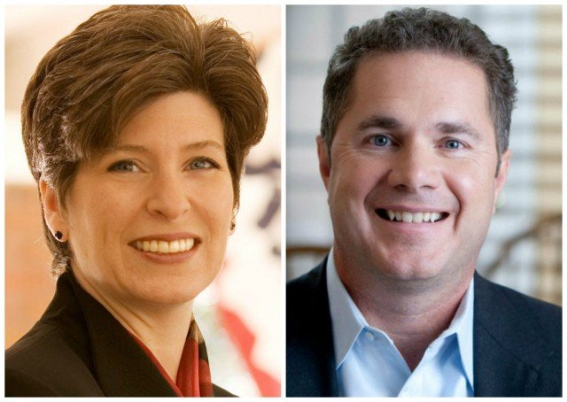 Republican Senator Joni Ernst and Democratic Congressman Bruce Braley are vying for Iowa Senate seat left vacant by the retirement of long-time Democratic Senator Tom Harkin