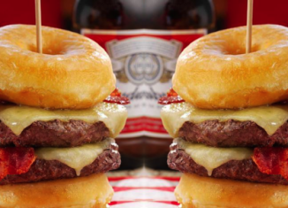 The Double Donut burger contains nearly 100 percent of a woman's recommended daily calorie intake at 1,996 calories