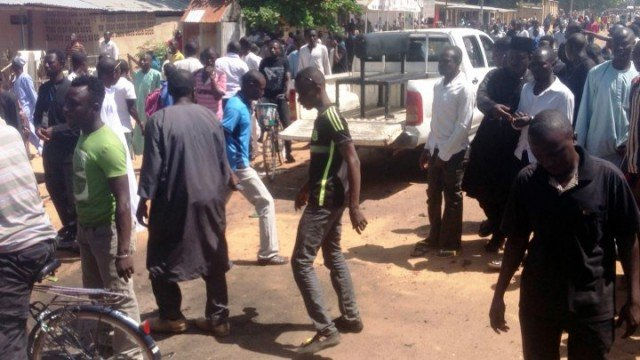 The explosion at a boys' school in Potiskum is believed to have been caused by a suicide bomber dressed as a student