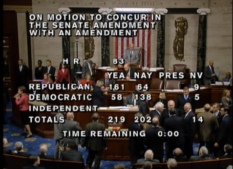 2015 US spending bill vote