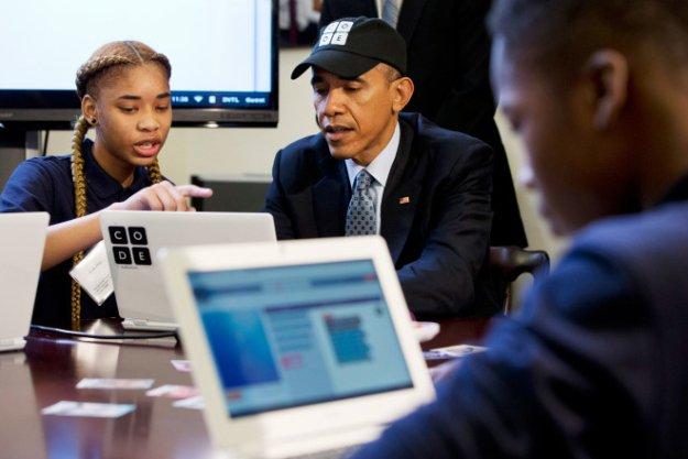 Barack Obama Hour od Code 2014