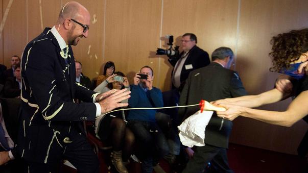 Blegium PM Charles Michel mayo attack