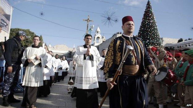 Christmas Eve Mass Bethlehem 2014